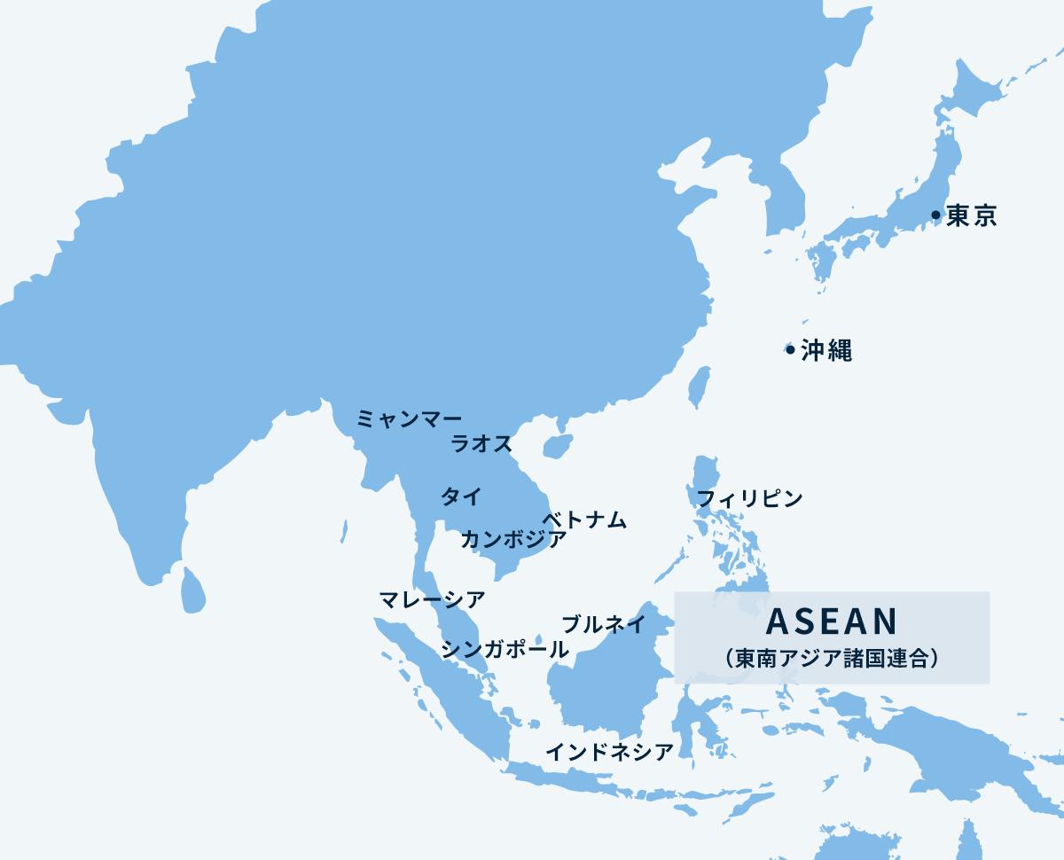 ASEANマップ